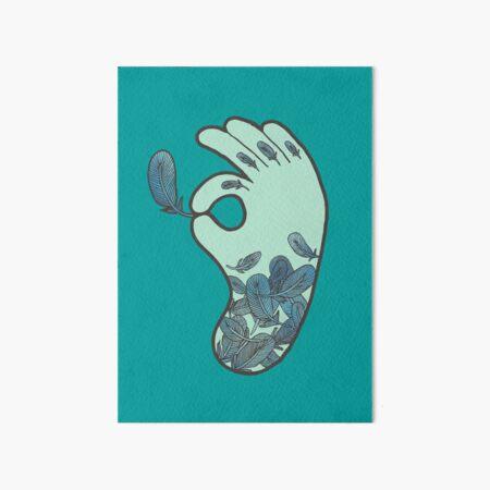 Blue Feather Tattoo Art Board Print