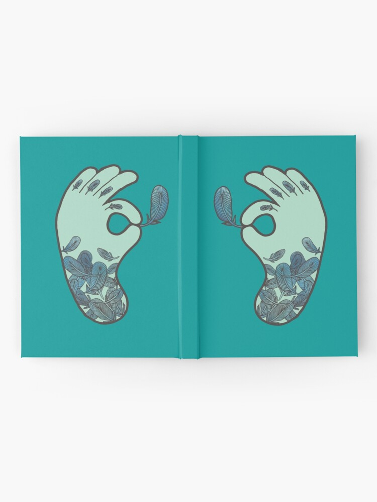 Alternate view of Blue Feather Tattoo Hardcover Journal
