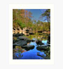 Big Rock - Beargrass Creek - Cherokee Park  Art Print
