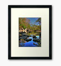 Big Rock - Beargrass Creek - Cherokee Park  Framed Print