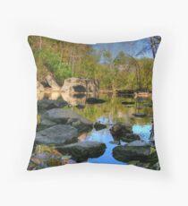 Big Rock - Beargrass Creek - Cherokee Park  Throw Pillow