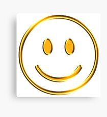 Smiley gold Canvas Print