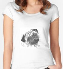 Pugs Face Women's Fitted Scoop T-Shirt