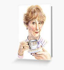Original watercolor  illustration - Mrs. Hudson Greeting Card