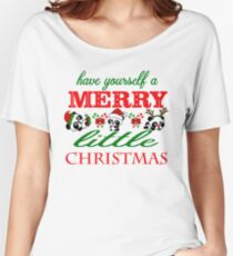 Christmas Pandas (Have Yourself A Merry Little Christmas) Women's Relaxed Fit T-Shirt