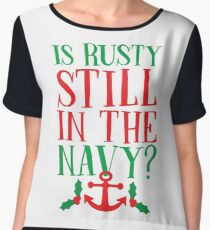 Is Rusty Still In The Navy? Women's Chiffon Top