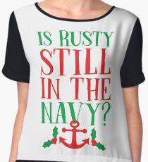 Is Rusty Still In The Navy? Women's Chiffon Top