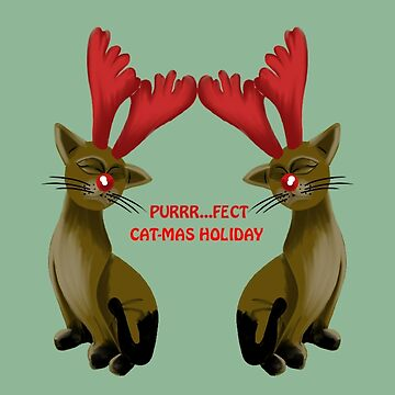 Purrr....fect Cat-mas Holiday by SidelineArt