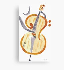 Double bass player clef Canvas Print