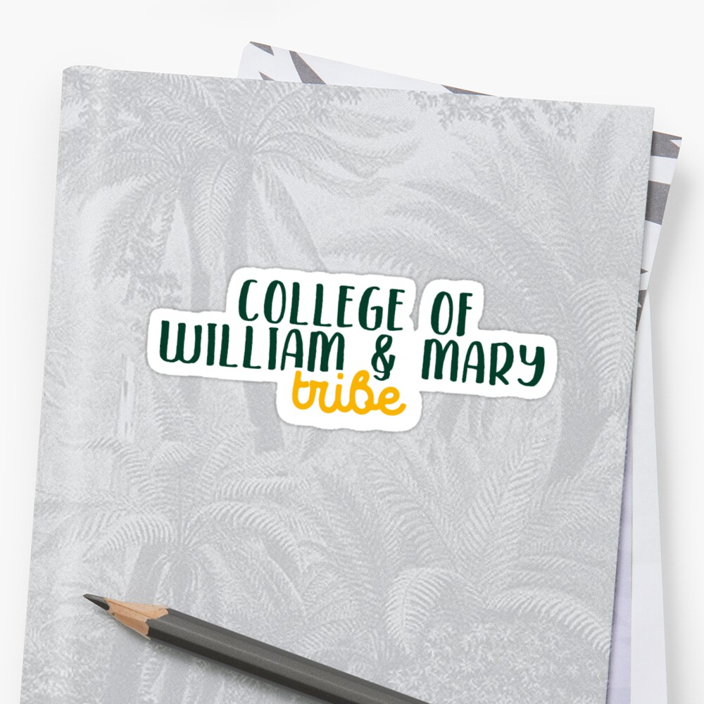 College of William & Mary Sticker Front