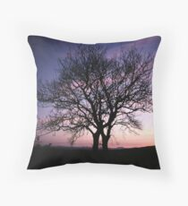 Two Trees embracing Throw Pillow