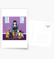 Adopter un chat Shelter Cartes postales