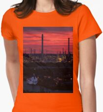 Rotterdam Harbour Skyline at Sunset, from Euromast T-Shirt