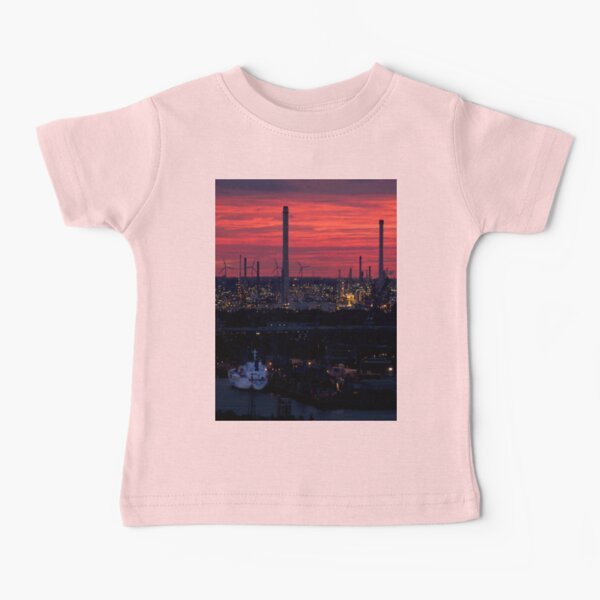 Rotterdam Harbour Skyline at Sunset, from Euromast Baby T-Shirt