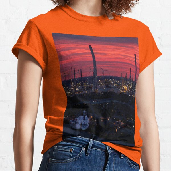 Rotterdam Harbour Skyline at Sunset, from Euromast Classic T-Shirt