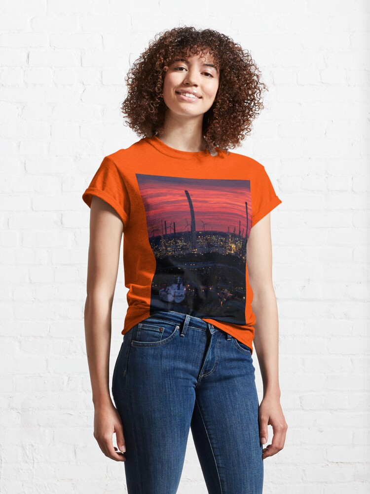 Alternate view of Rotterdam Harbour Skyline at Sunset, from Euromast Classic T-Shirt