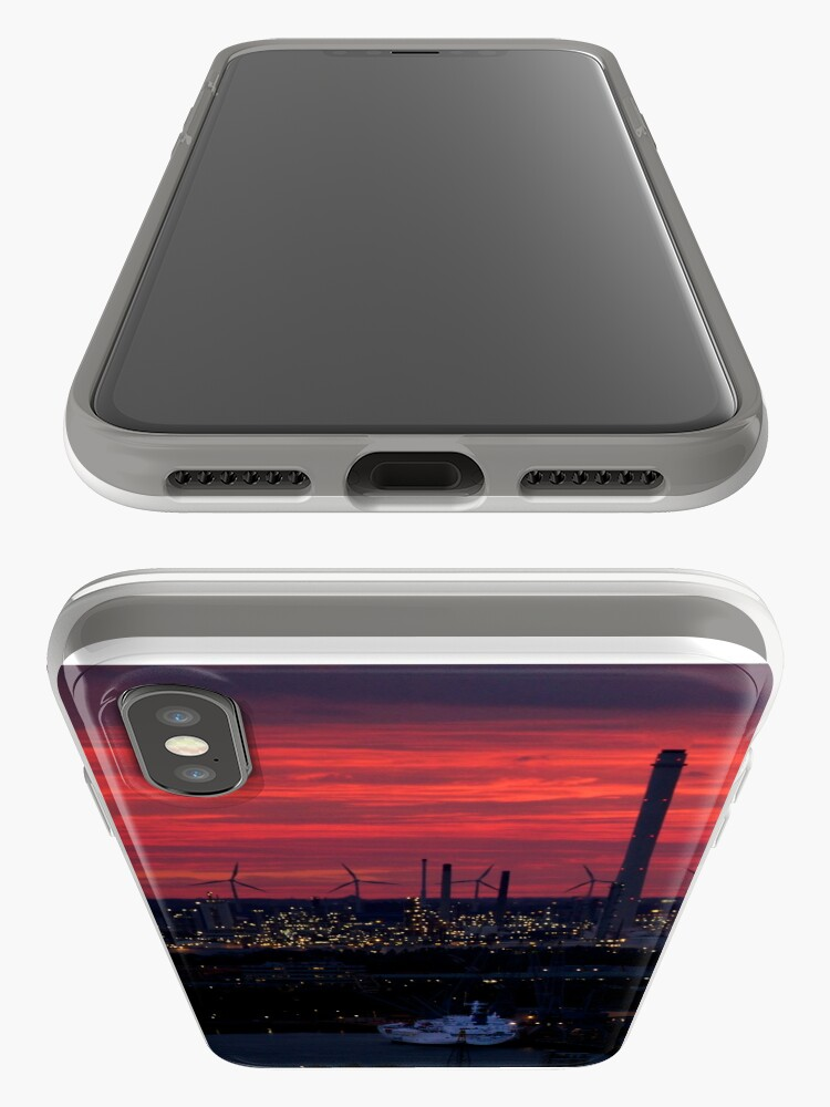 Alternate view of Rotterdam Harbour Skyline at Sunset, from Euromast iPhone Cases & Covers