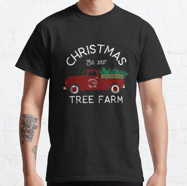 Distressed Vintage Pickup Truck Christmas Tree Farm Retro Classic T-Shirt