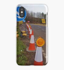 Road Works Approach iPhone Case/Skin