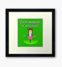"""""""Cathy and the Cat"""" disfrutan cada momento como único Framed Print"""