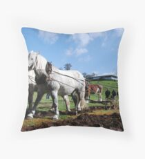 Scene from the Old Days Throw Pillow