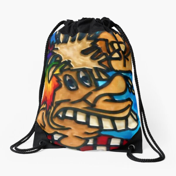 Ice Cream Cone Kid Johnny Checkers Europe 72 Grateful Dead fan art Drawstring Bag
