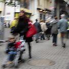 Red Bag & Pram by hynek