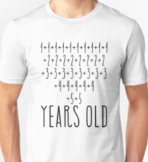 Awesome Simple Math 80th Birthday Shirts For Men and Women Unisex T-Shirt