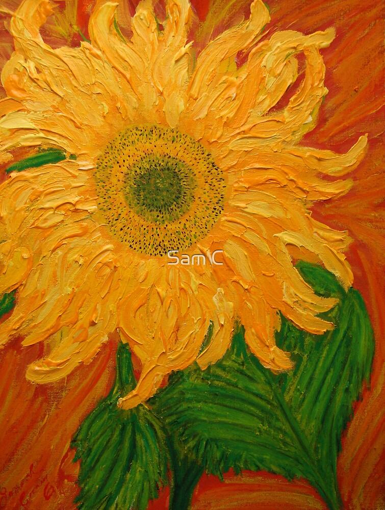 Sunflowers in the Desert by Sam C