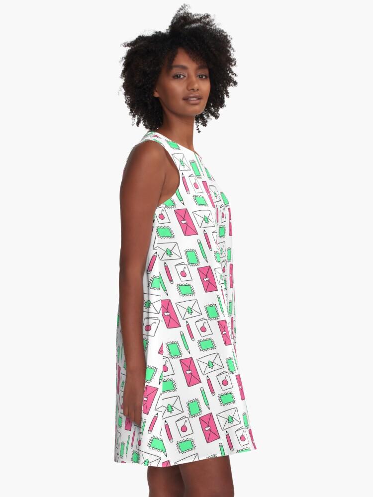 Alternate view of Christmas Snail Mail A-Line Dress