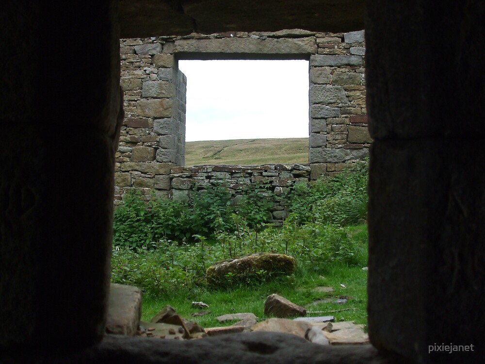 looking out from the Bothy @Top Withens by pixiejanet