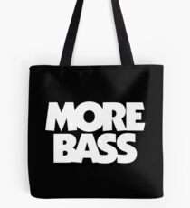 MORE BASS (White) Tote Bag