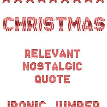 Ironic Christmas Jumper 2018 by ClassicClothing