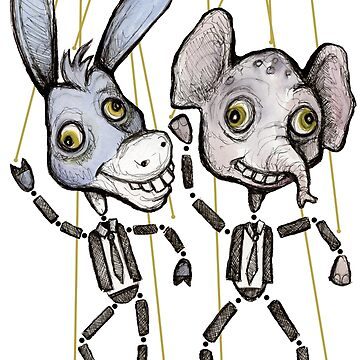 Democrat Donkey and Republican Elephant Puppets by DitchFrame