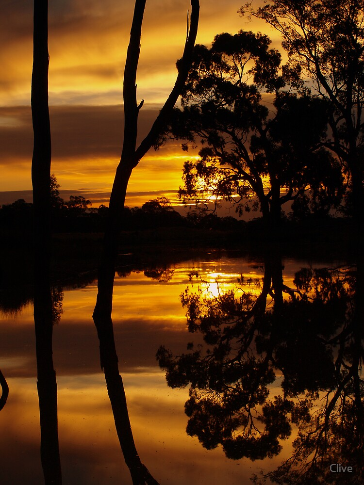 Mirrored Sunset ~ half hour later by Clive