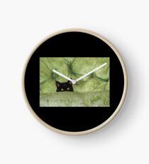 Green-Eyed Girl On Papason Chair Clock