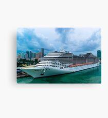 MSC Divina Cruise Ship Canvas Print