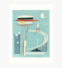 Space Needle Surprise  Art Print
