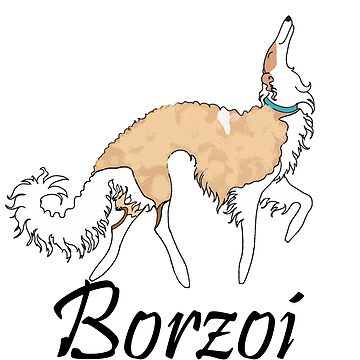 White And Gold Borzoi by tcarey
