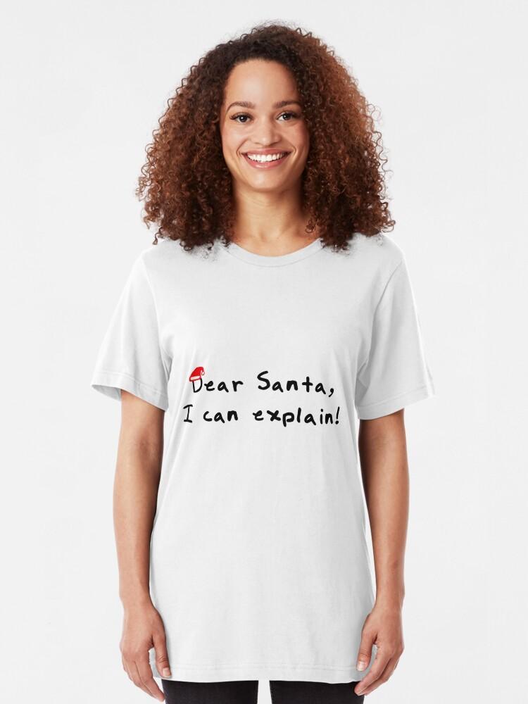 Dear Santa I can Explain Mens V-Neck T-Shirt Christmas Funny Xmas Gift Humor