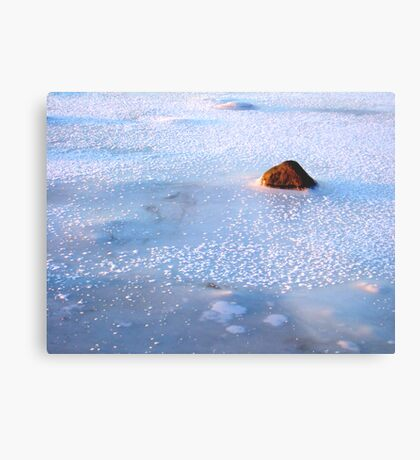 A freezing stone Metal Print