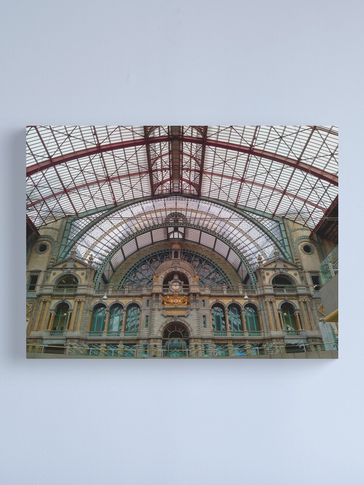 Alternate view of Antwerp Central Train Station  Canvas Print