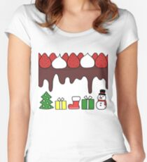 Happy Yummy Holidays! Other taste Women's Fitted Scoop T-Shirt