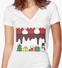Happy Yummy Holidays! Other taste Women's Fitted V-Neck T-Shirt