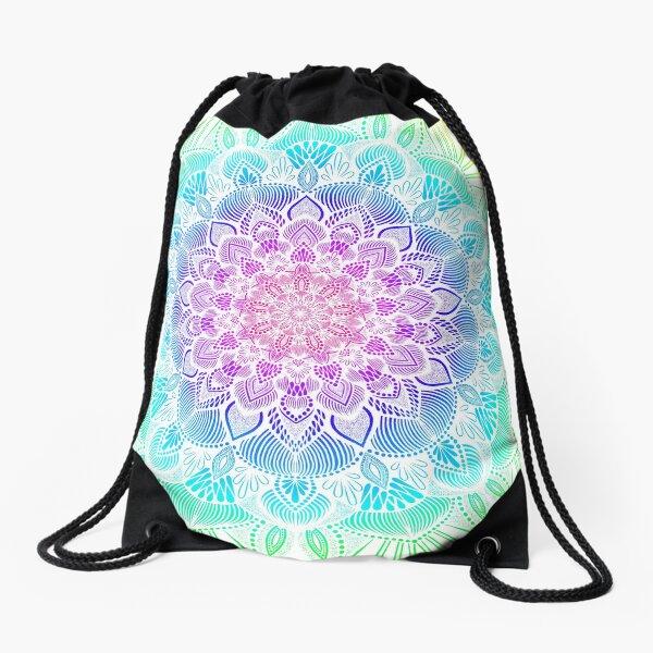 Rainbow Mandala  Drawstring Bag
