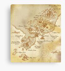 Jak and Daxter - Precursor Legacy Map Canvas Print