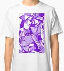 As Worlds Collide (Royal Purple) #Geometric #New #Polygon #Triangle #Lines #Sketch #Black #White Classic T-Shirt