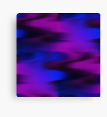 Keep It Wavy (purple, blue, black) Canvas Print