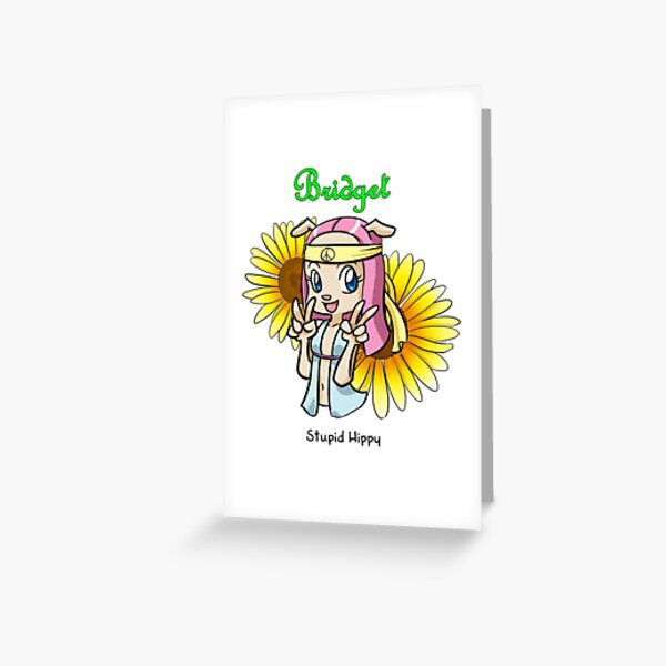 Bridget from 'My Cage', stupid hippy quote Greeting Card