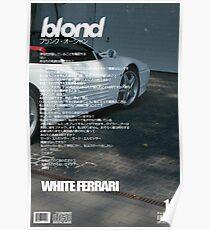 Frank Ocean - White Ferrari Poster